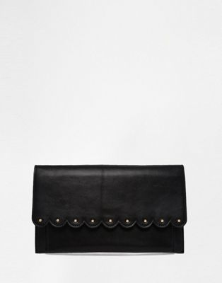 Image 1 of ASOS Scallop Clutch Bag