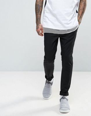 Image 1 of ASOS Skinny Chinos In Black
