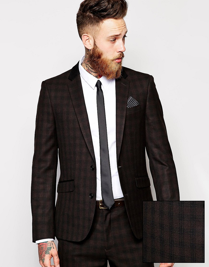 ASOS | ASOS Slim Fit Suit Jacket In Plaid Check