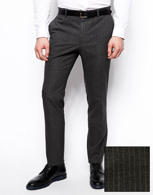 Image 1 of ASOS Slim Fit Suit Trousers In Pinstripe