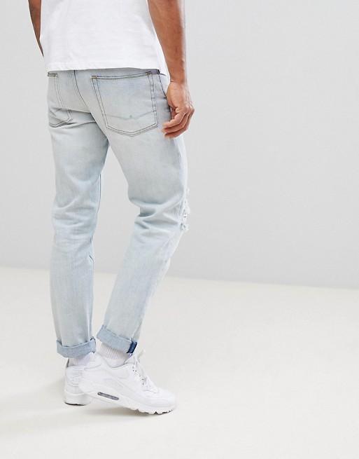 DESIGN Slim Jeans In Bleached Down Wash - Bleach blue Asos DM26xxfbqr