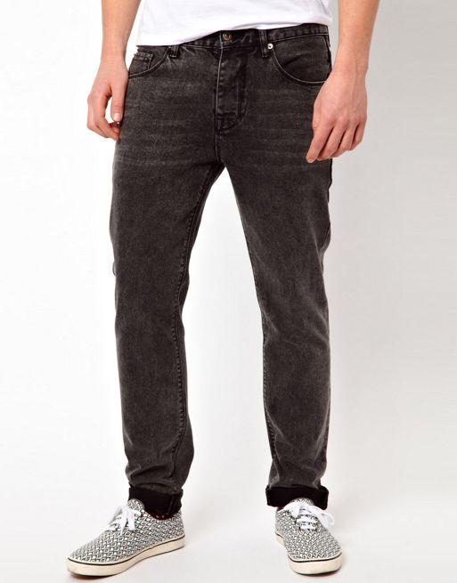 Image 1 of ASOS Slim Jeans In Washed Black