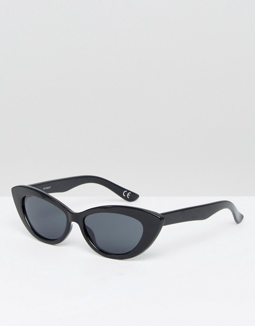 asos asos small pointy cat eye sunglasses. Black Bedroom Furniture Sets. Home Design Ideas