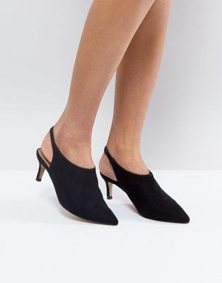 Image 1 of ASOS SOLUTION Slingback Kitten Heels