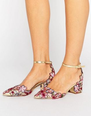 Image 1 of ASOS STRUT Embroidered Pointed Heels
