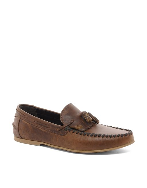 Image 1 of ASOS Tassel Loafers in Leather