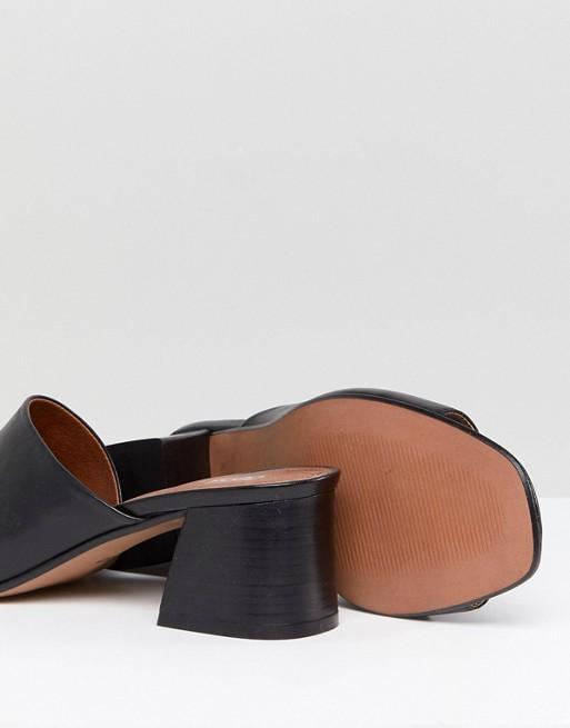 ASOS Asymmetric Heeled Leather Sandals ASOS TATIANA rF7xTqrwt