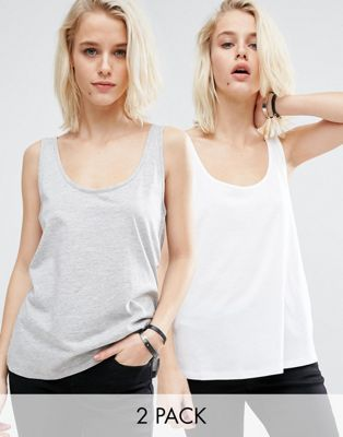 Image 1 of ASOS The New Ultimate Vest 2 Pack Save 25%
