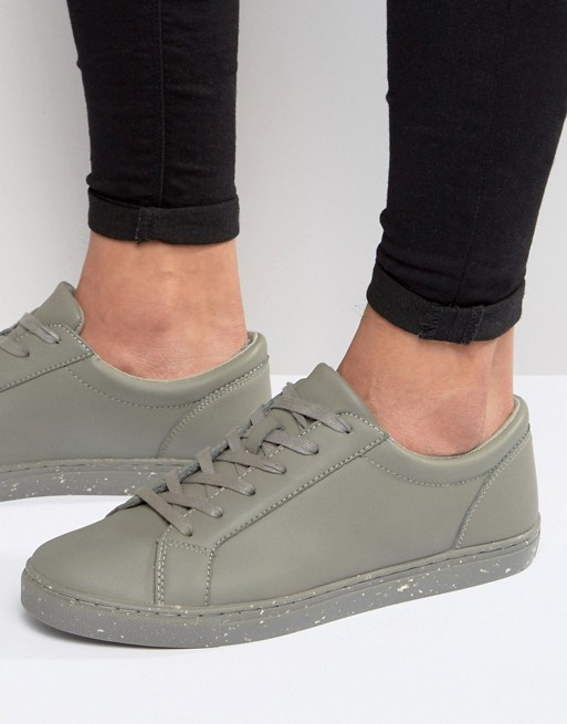 ASOS Trainers in Grey With Speckle Print Sole