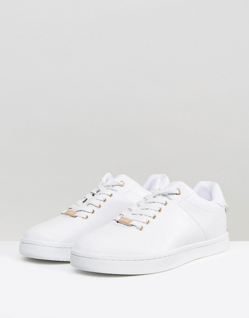 Lace With ASOS Back Gold In Details and White Trainers qXXtg