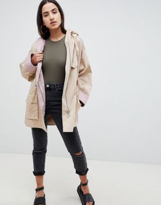 Image 1 of ASOS Waterfall Parka with Contrast Liner