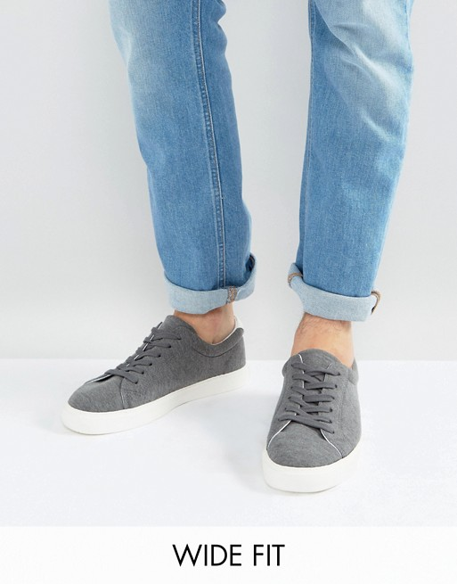 collections online big discount for sale ASOS Plimsolls In Grey Jersey Marl purchase for sale 100% original cheap online SmXz9