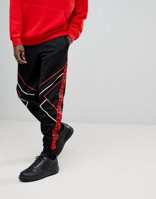Image 1 of ASOS x Star Wars Poly Tricot Joggers With Printed Tape