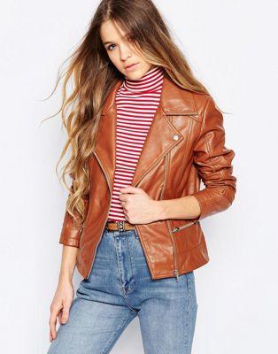 Image 1 of Barney's Originals Leather Biker Jacket