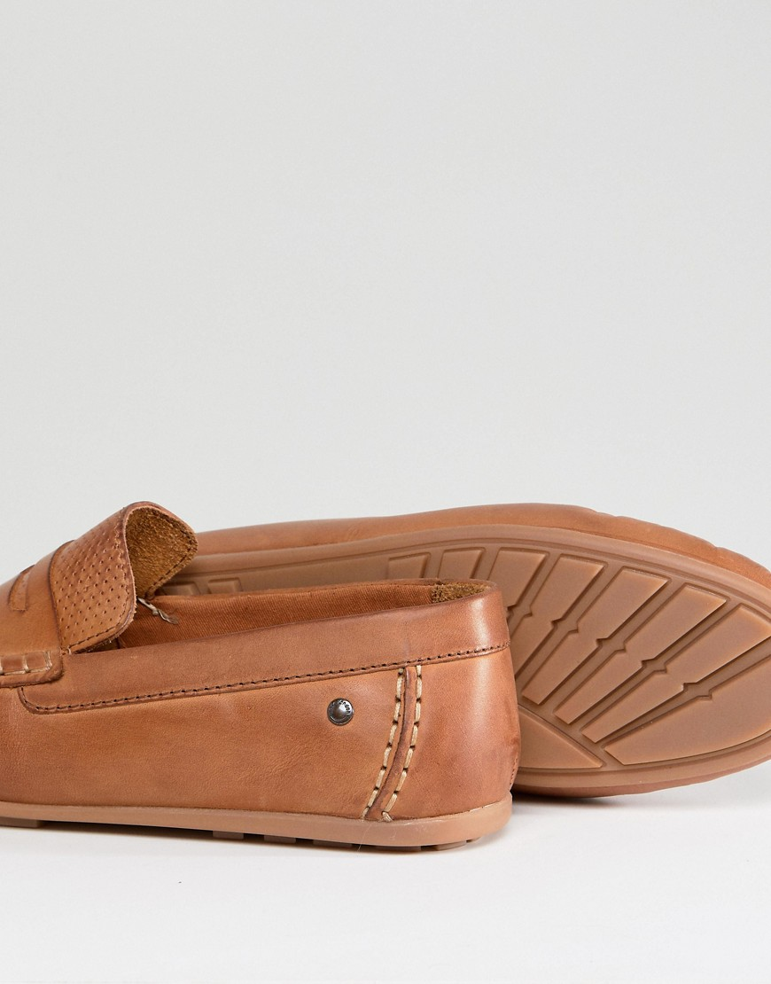 Base London Attwood Leather Drivers In Tan by Base London