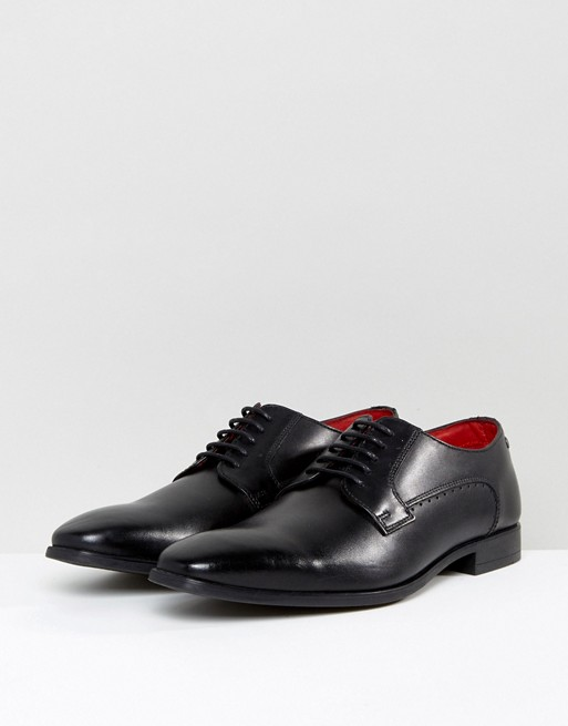 Base London - Penny - Chaussures derby en cuir - Noir
