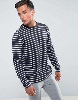 Image 1 of Bellfield Long Sleeve T-Shirt In Stripe