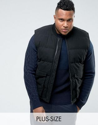 Image 1 of Bellfield PLUS Padded Vest With Patch Pockets