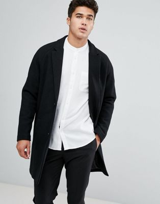 Image 1 of Bershka Smart Overcoat In Black