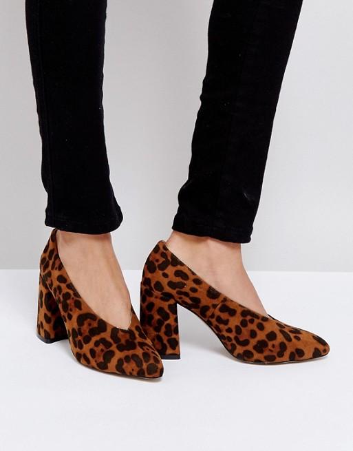 Boohoo - Vamp - Chaussures à talons carrés imprimé léopard