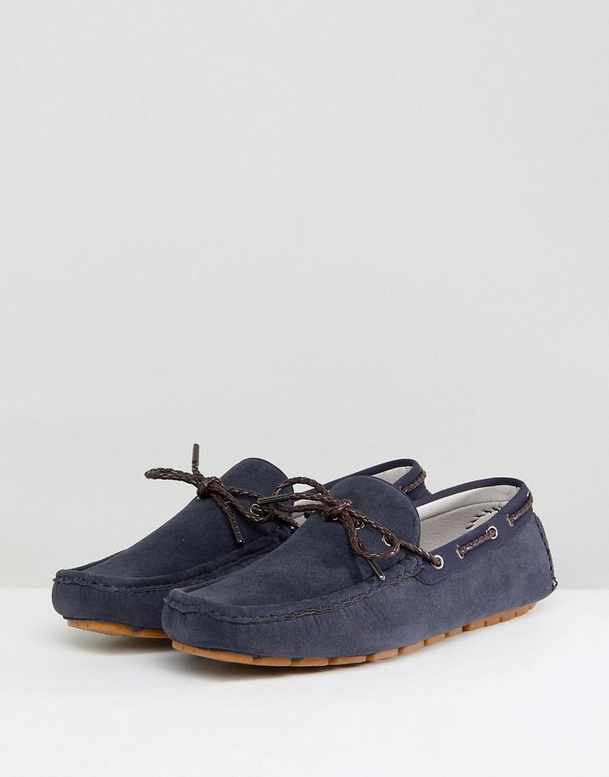 Burton Menswear Driving Shoes In Navy
