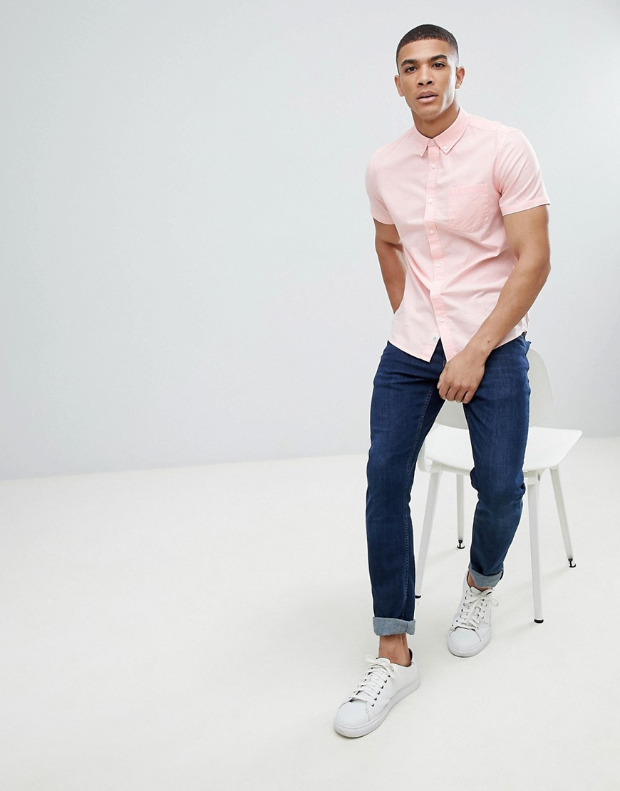 Burton Menswear Oxford Shirt In Pink by Burton Menswear London