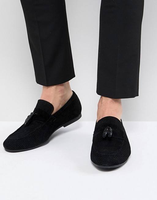 Tassel Loafer In Black - Black Burton Menswear fZBG8t9Oa