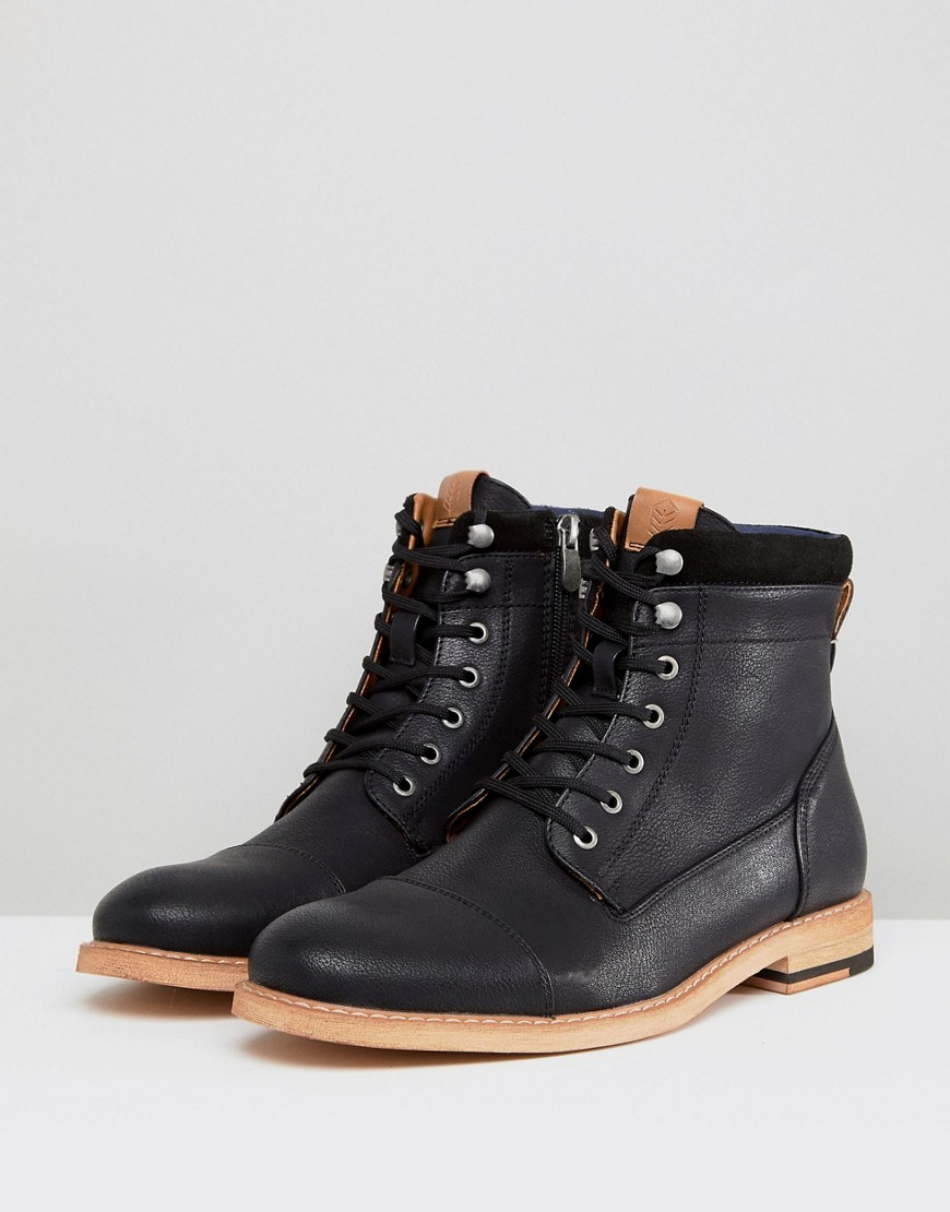 Call It Spring Rosciolo Lace Up Boots In Black