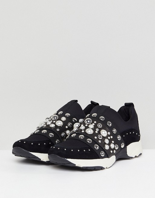 Luck Studded Trainers - Black Carvela BmH1hUQ8YQ