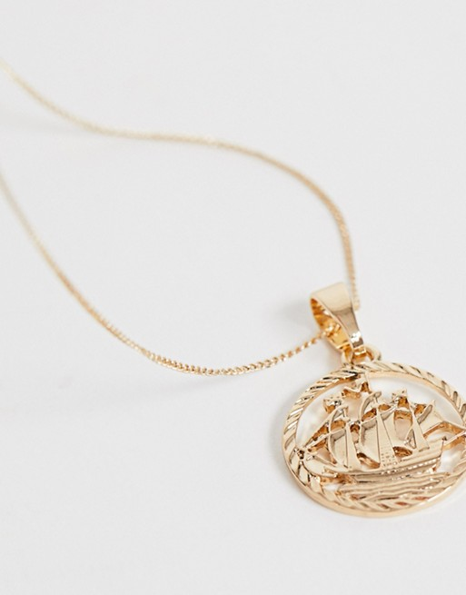 gold medallion Able amp; amp; Chained Chained Able necklace XnSwRSBq