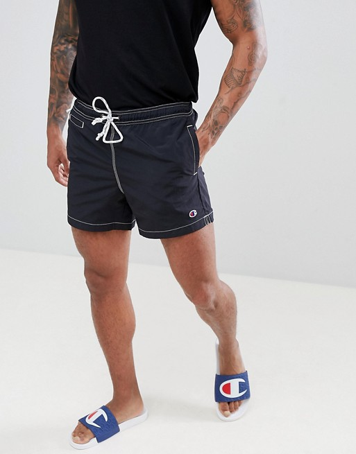 swim Champion black logo with Champion in shorts small 5waZq