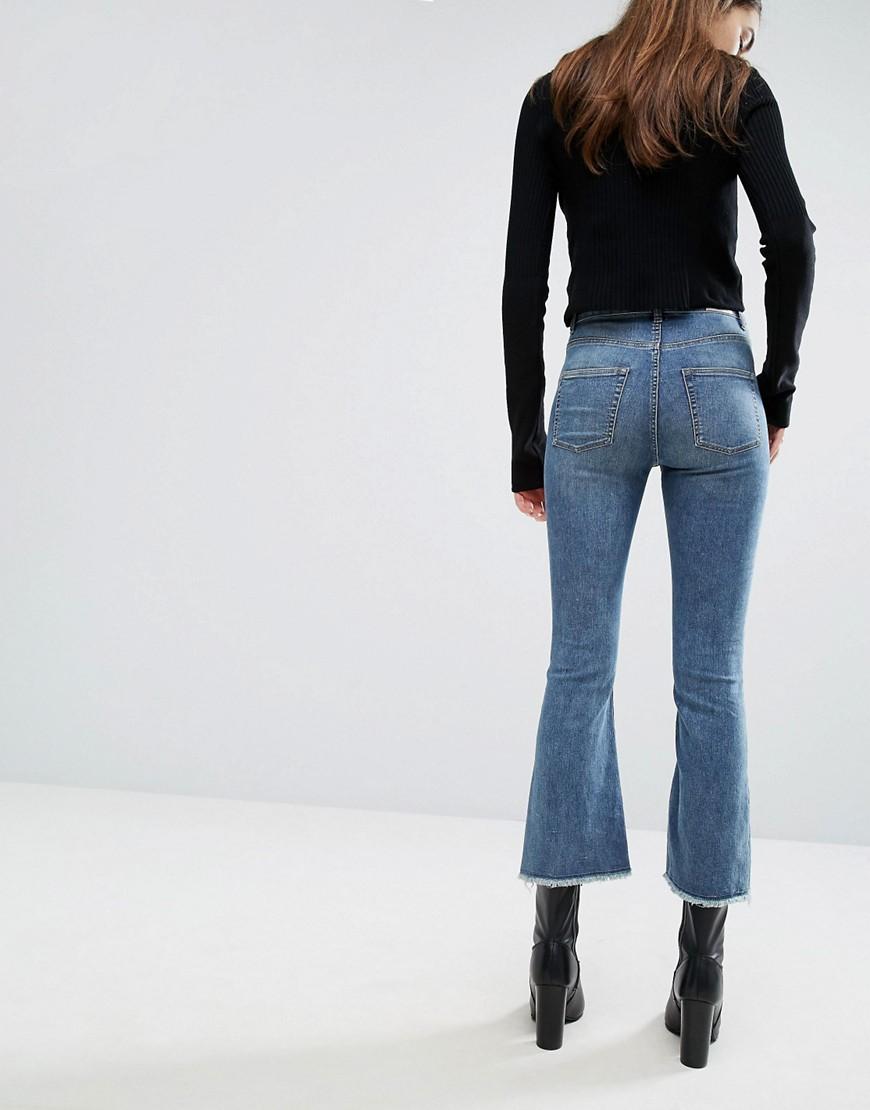 Cheap Monday | Cheap Monday High Waist Crop Kick-Flare Jean with ...