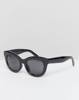Image 1 of Cheap Monday Oversized Cat Eye Sunglasses in Black