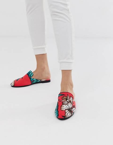 Chelsea Peers tropical print loafer slipper