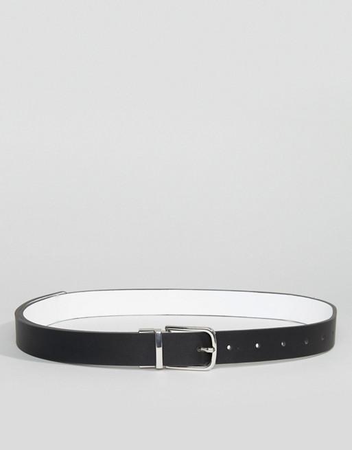 Cinturón estilo boyfriend con diseño reversible para cadera y cintura de ASOS