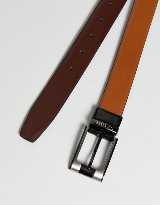 Cinturón reversible de vestir en cuero Crafti de Ted Baker