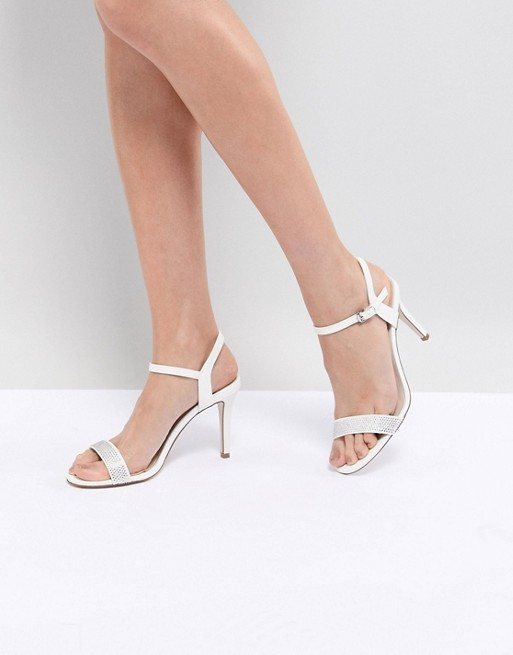 Strappy Glitter Heel Shoes - Ivory Coast 5nQ4bD1qF