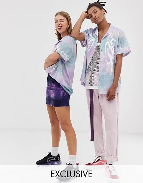 COLLUSION Unisex tie dye shirt