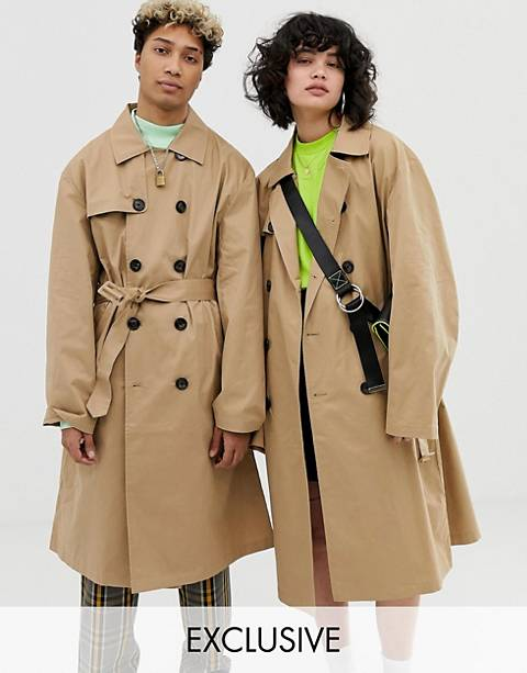 COLLUSION Unisex trench coat