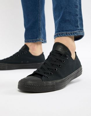 Image 1 of Converse All Star ox plimsolls in black m5039c