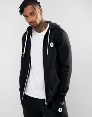 Image 1 of Converse Chuck Patch Zip Hoodie In Black 10004627-A04