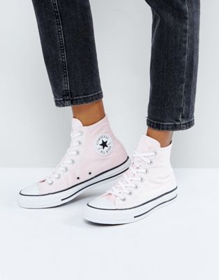 Image 1 of Converse Chuck Taylor All Star Velvet Hi Top Sneakers In Pink