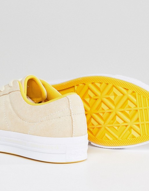 Trainers One Yellow In Converse Suede Ox Star ftv8fqz