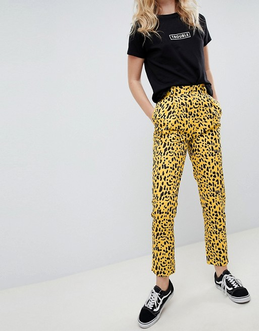 In Trousers Animal Straight Daisy Street Print Leg IPwaw6xqS