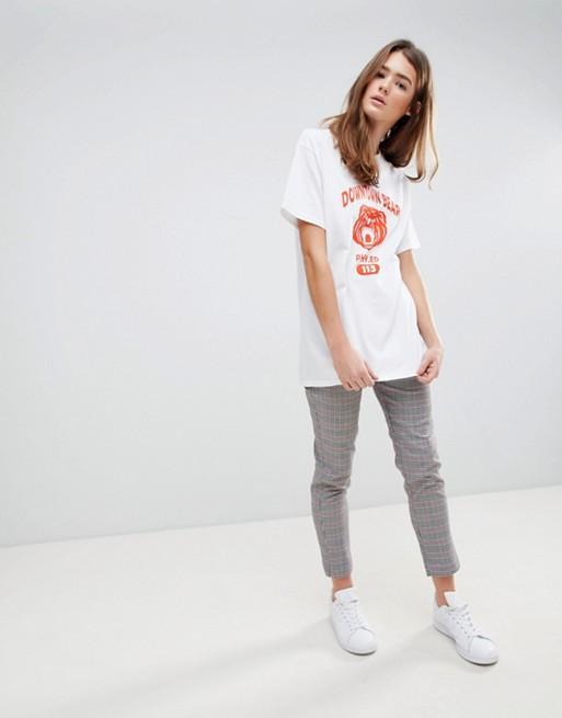 Daisy Street - T-shirt coupe masculine imprimé vintage