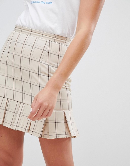Tailored Check Skirt Street Daisy Vintage In x1Cfqzng0w