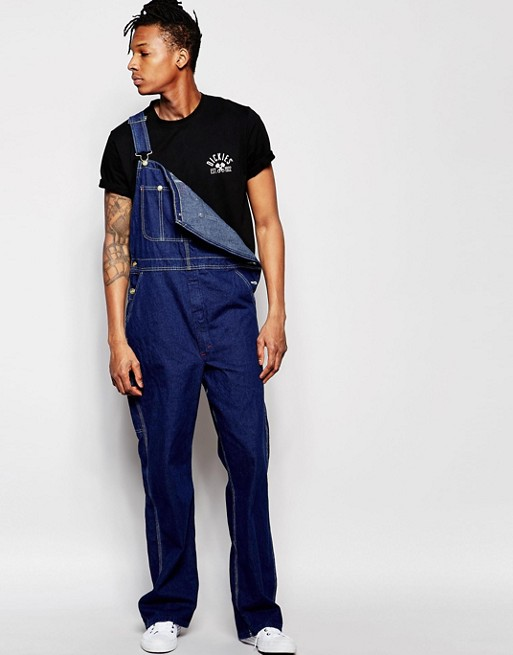 dickies dickies dungarees in denim. Black Bedroom Furniture Sets. Home Design Ideas