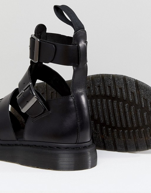 Dr Geraldo Strap Martens Black Martens Ankle Sandals In Dr RqwRSgcr