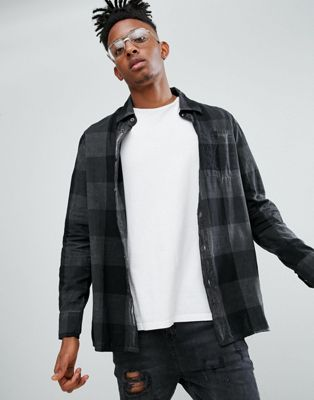 Image 1 of Dr Martens Overdyed Gingham Shirt