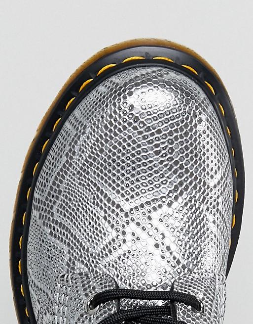 Dr Martens Vegan Silver Snake Lace up Boots gD1vKvz2L1